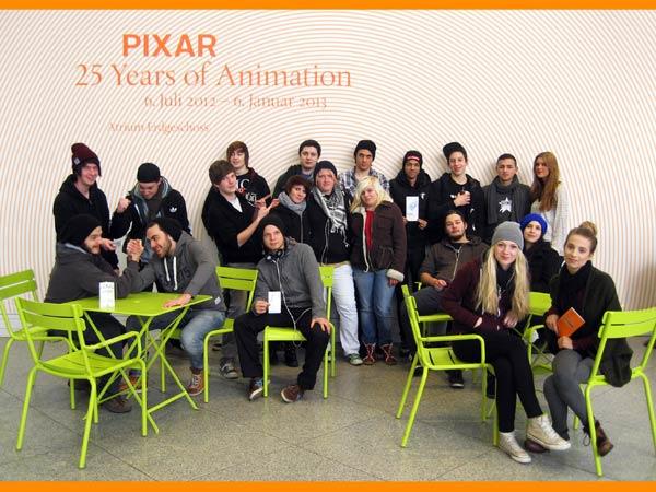 AS3M2, 20.12.2012: Besuch der Ausstellung PIXAR – 25 Years of Animation