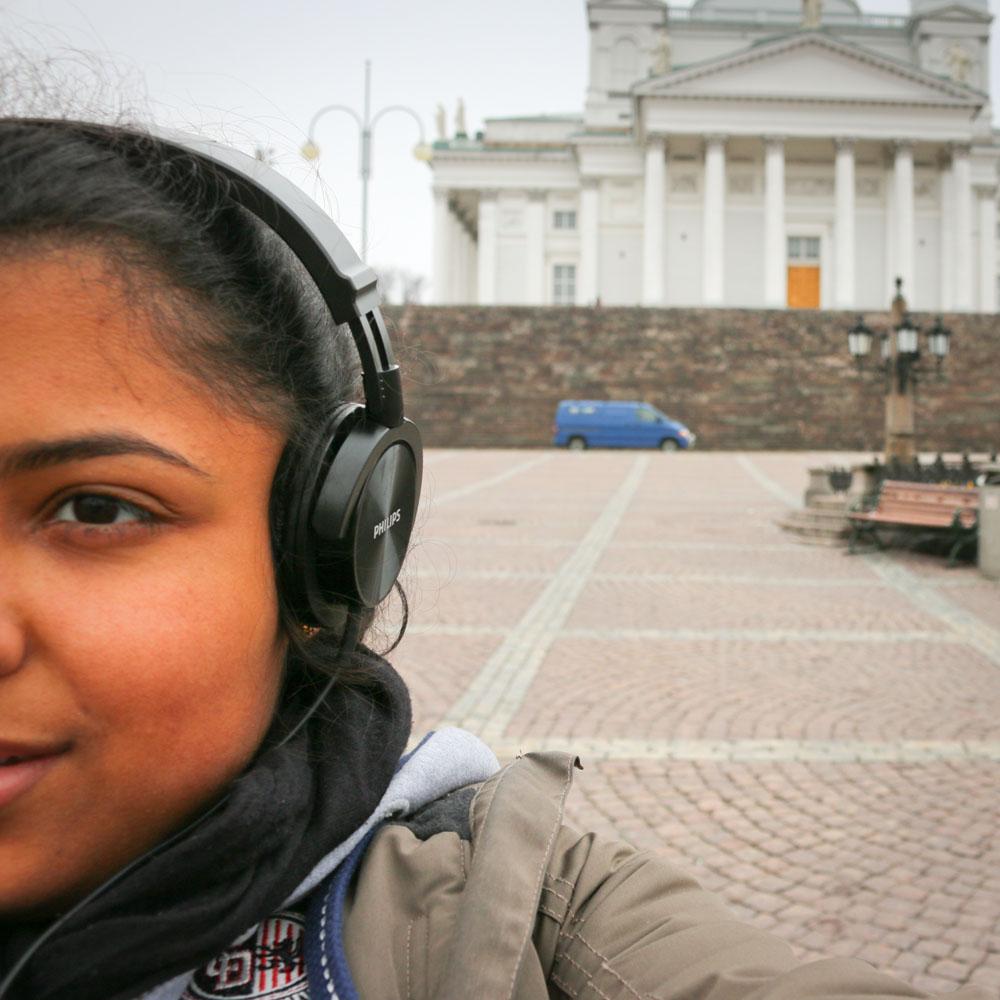 Selina Breitbach in Helsinki