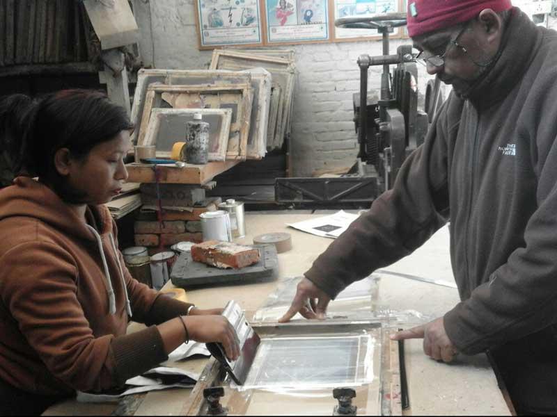 Werkstatt in Nepal