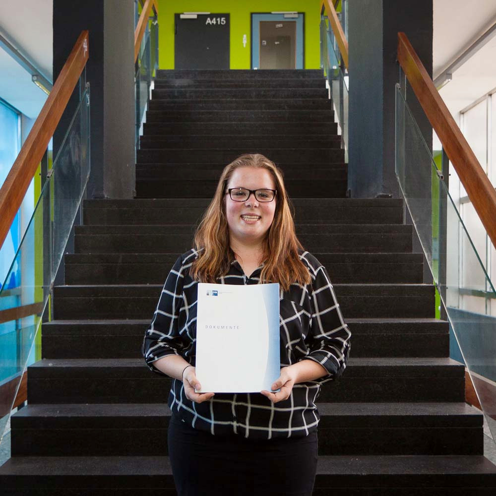 Diana Lehmann, Jahrgangsbeste der TKs 2017