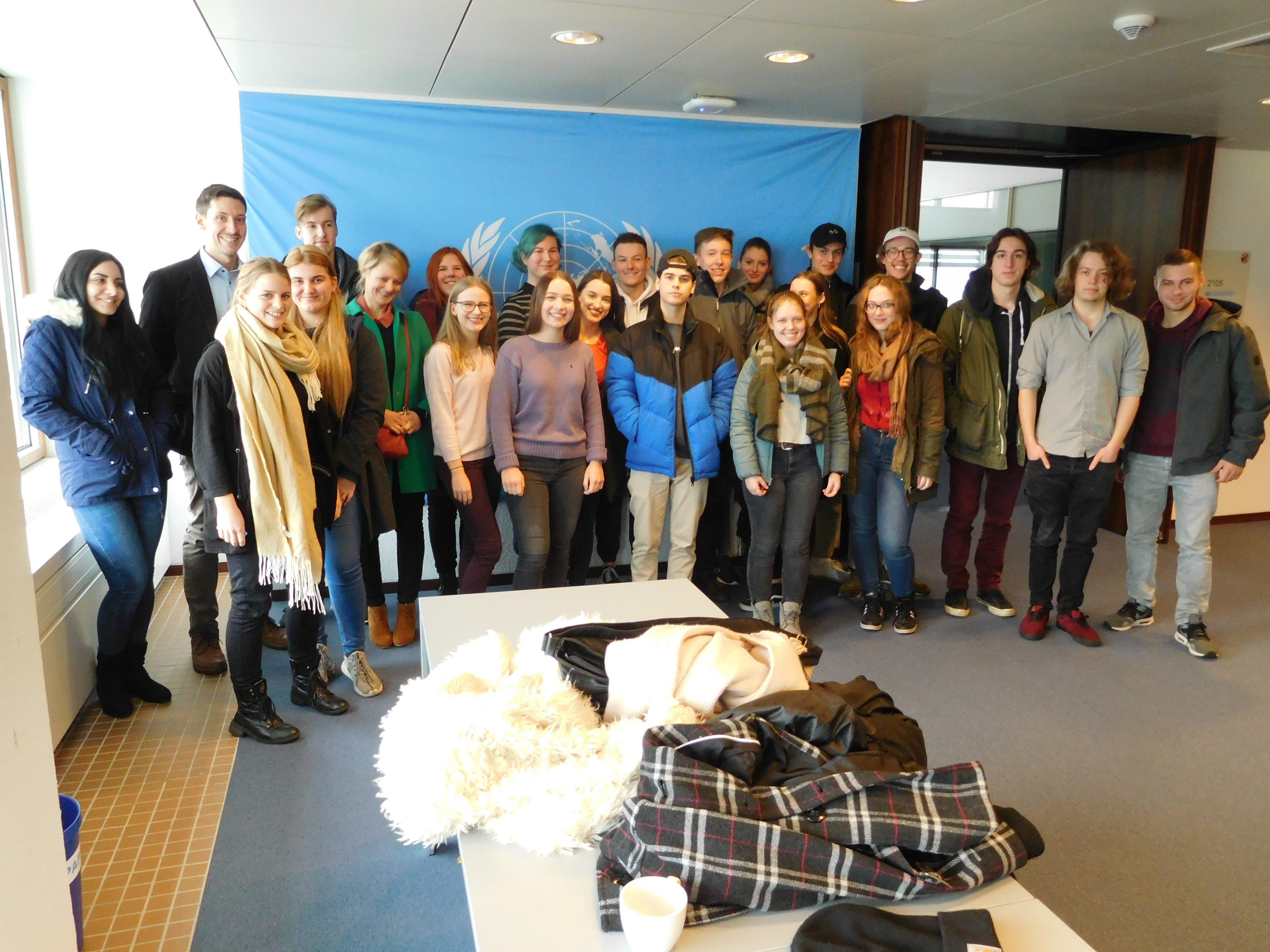 Anfang Dezember: RRBK-Schüler zu Gast bei den Vereinten Nationen in Bonn