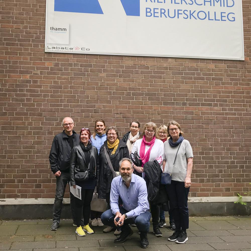 Die finnische Axxell-Delegation mit unserem EU-Koordinator Tom Rathmann